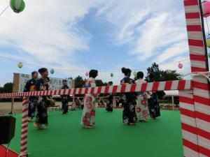 御経塚町内会夏祭り:子ども会じょんから踊り