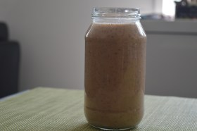 Pineapple, Banana, Peach, Almond Milk Cacao Nibs 002