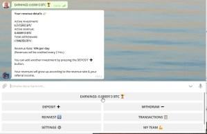 Crypsy Telegram Bot Earnings