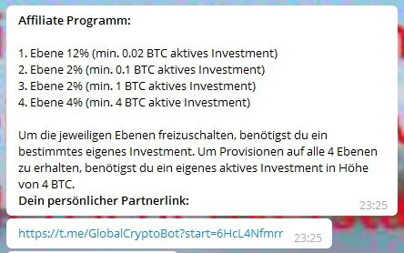 Global Crypto Bot (GCB) - Affiliate Programm