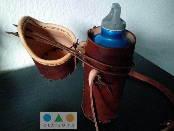 Ledertasche für Trinflasche