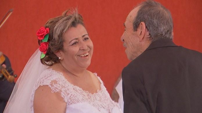 'Realizei meu sonho de casar com o homem que amo', conta Adail de Souza Lima, em Itapetininga (Foto: Lucas Cerejo/TV TEM)