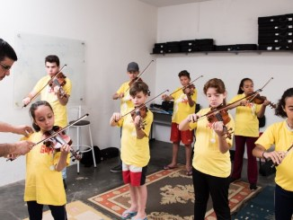Um dia de aula no Polo Itaberá Crédito: Gustavo Morita/Projeto Guri
