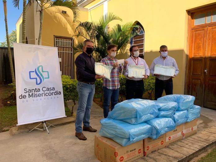Fiesp, Ciesp, Senai e Sesi doam 5 mil máscaras para Santa Casa de Sorocaba
