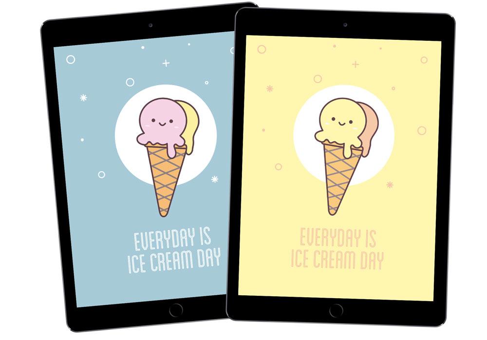 Ipad Ice cream screensaver - Article sur Olamelama