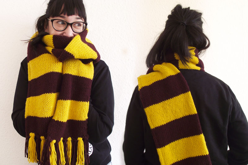 Tuto DIY - Echarpe Harry Potter - Olamelama blog