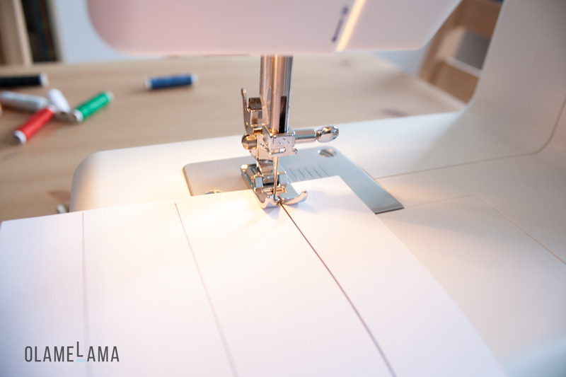 Couture Test sur papier - Olamelama