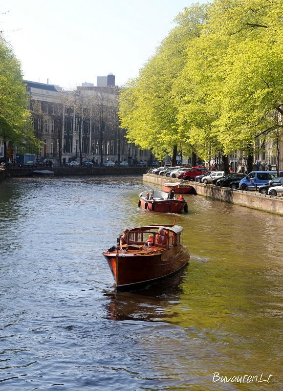 Ramybė Amsterdamo kanaluose