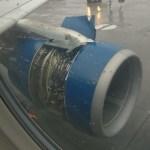 Keleivis nufilmavo, kaip kylant lėktuvui oro srautai nuplėšia reaktyvinio variklio gaubtą