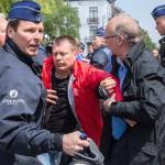 Belgijoje streikuojantys kalėjimo prižiūrėtojai įsiveržė į teisingumo ministeriją