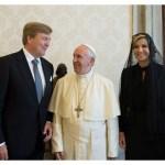 Ketvirtadienį popiežius priėmė Olandijos karališkąją porą