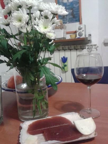 Ezt kivételesen nem én csináltam: birsalmasajt és pecorino, borral