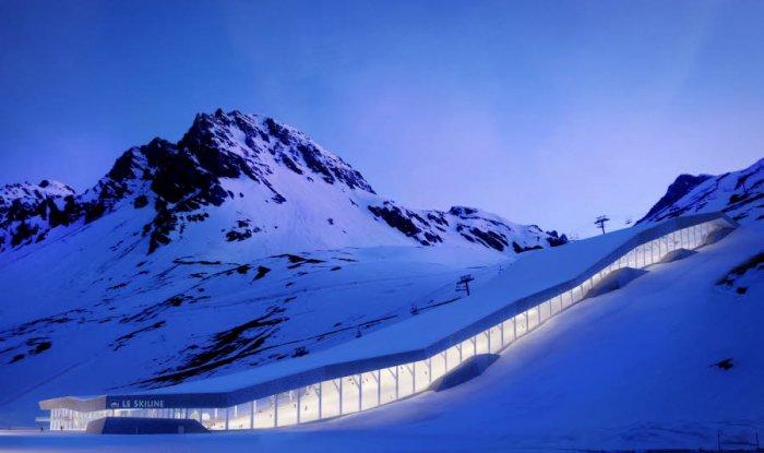 le-projet-dessine-par-l-atelier-d-annecy-le-vieux-de-jong-architectes-le-ski-line-serait-implante-sur-le-stade-esf-de-val-claret-pres-du-telesiege-du-tichotet-abritera-dans-sa-partie-aval-une-piscine