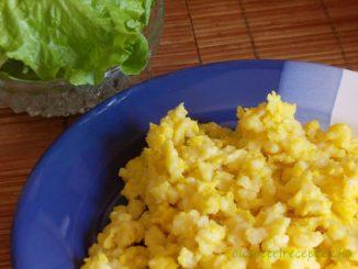 Tojásos nokedli, tavasz, tojás, fejes saláta