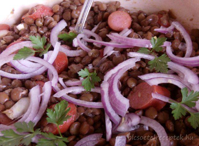 Lencsesaláta, egészséges téli saláta