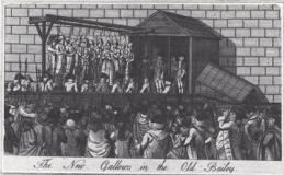 Undated picture of new gallows at Old Bailey