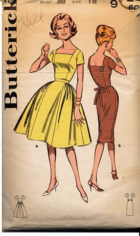 Butterick Square Neck Dress