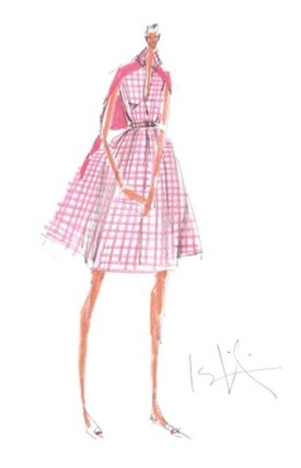 Isaac Mizrahi sketch-a-dress
