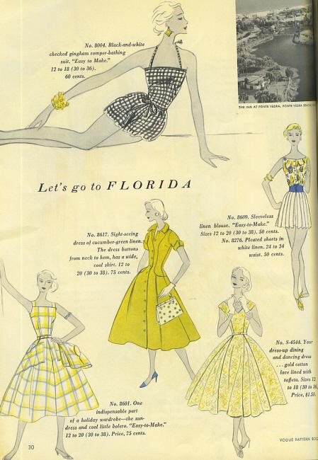 Vogue 1955 pattern book