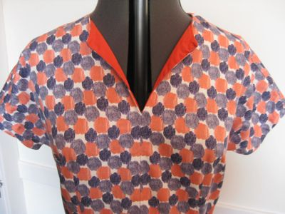 Orange and Blue Dot dress