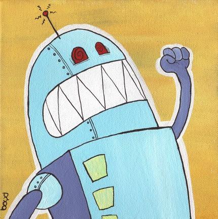 robots yelling