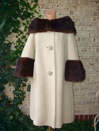 cream and mink coat