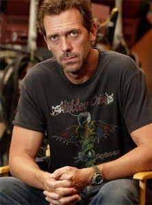 Hugh Laurie as Dr House.