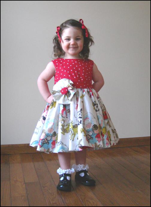 new-vintage little girl's dress