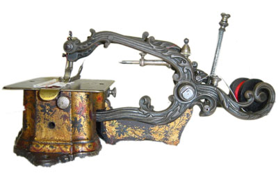 very old weird sewing machine