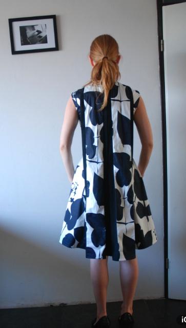 Watteau pleat dress