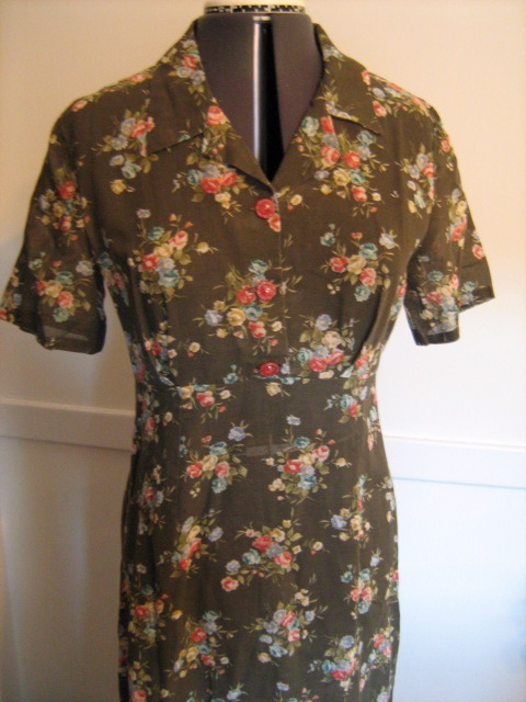 brown voile dress