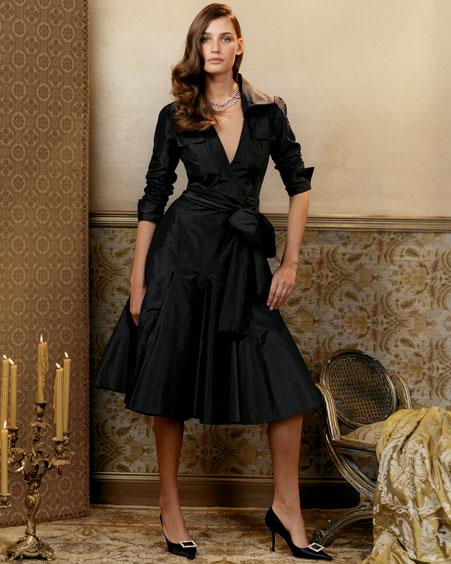 dvf taffeta dress