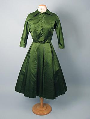 green satin dinner suit