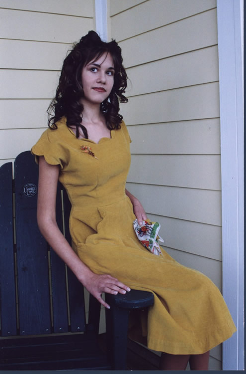 mustard corduroy dress
