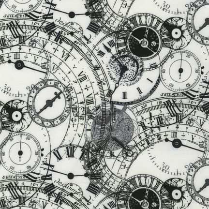 Kaufman Clock Fabric