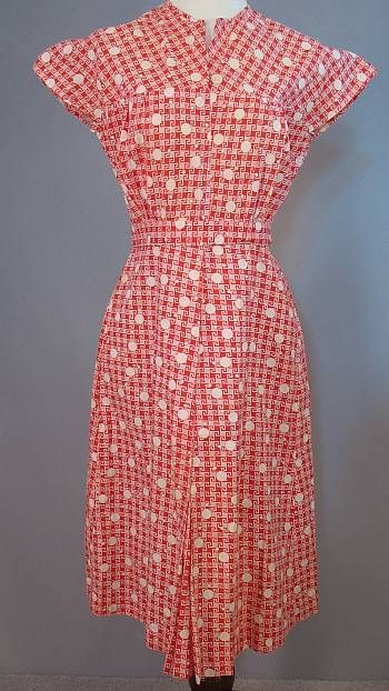 1930s dot dress