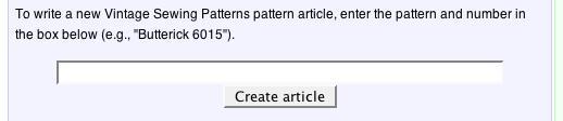 sewing patterns wiki box