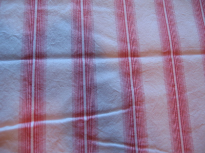 pink stripe fabric