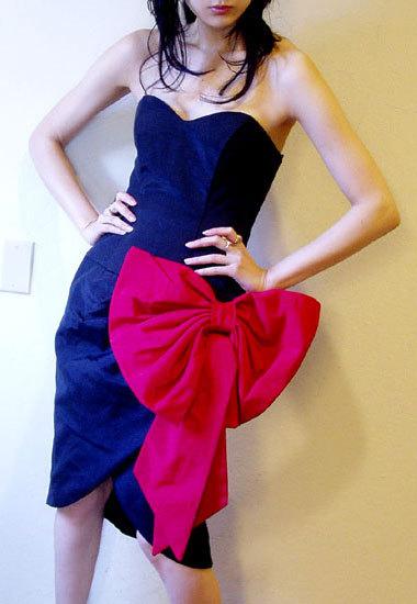 80s bow dress