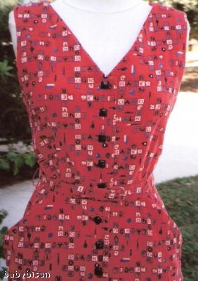 red crossword puzzle dress