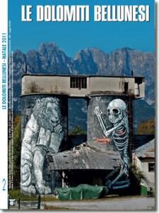 Copertina LDB Natale 2011. Ericailcane, Silos a Vignole, 2011. Sullo sfondo, i Monti del Sole. (foto A. Montresor)