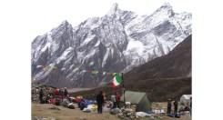 Bivacco a Larkya (4480 m)