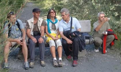 il gruppo di CIPRA Internazionale in visita alle Dolomiti
