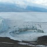Quello che rimane dei ghiacciai del Kibo che si stanno ritirando di anno in anno