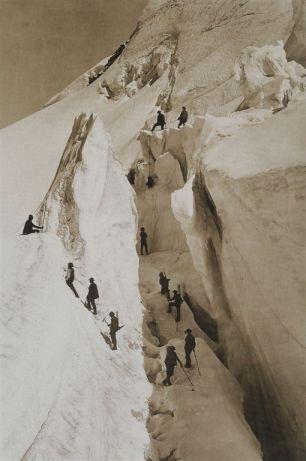 Ascensione al monte Bianco, foto f.lli Bisson (1863)