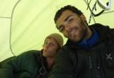 Luca e James in tenda sotto El Elmo (ph. L.Vallata)
