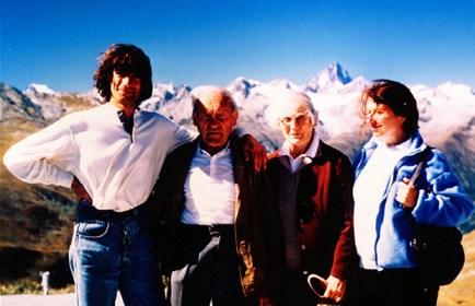 Manolo, Riccardo Cassin con la moglie e Mirella Tenderini