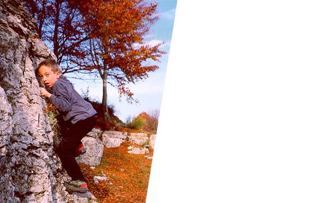 Quando mio figlio Anchise (Legend) era piccolino e si divertiva a fare bouldering in montagna con me