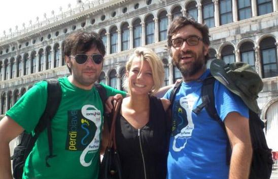 In partenza da piazza San Marco a Venezia