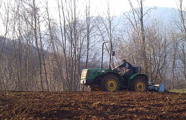 Orazio al lavoro nei campi